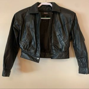 Byrnes and Baker Vintage Womens Genuine Leather Jacket Size S Thinsulate Biker
